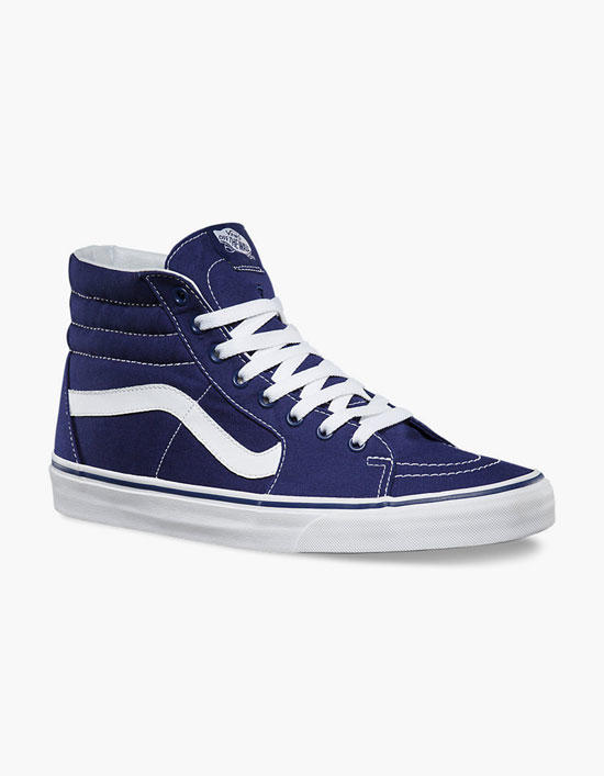 5dfacdd1f7 Vans Canvas Sk8-Hi Mens Shoes Blue In from Tilly s