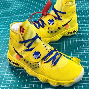 Off White X Nike React Hyperdunk 2017 Yellow Sport Basketball Shoes - Best  Online Sale 19e5100c8c
