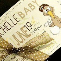 Special DeliveryBaby Shower Invites Set of 20 by littletoad