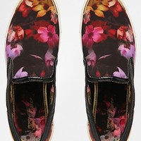 Ted Baker Malbeck Cascading Floral Slip On Trainers