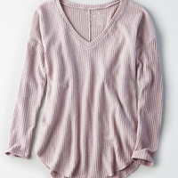 AE Soft & Sexy Plush Waffle Knit Top, Lavender