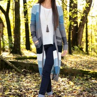 BB DAKOTA: Cold Valley Cardigan-Blue