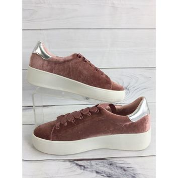 Steve Madden Blush Suede Sneakers Size 10