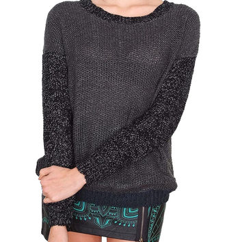 Color Play Sweater - Charcoal
