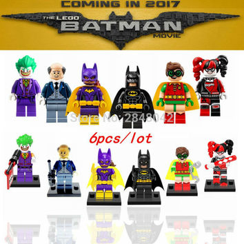 Set Sale Super Hero Batman DIY Building Blocks Catwoman Clown Harley Quinn Calendar people Robin Movie Bricks Gifts Toys legoing
