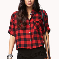 Checkered Short-Sleeve Shirt