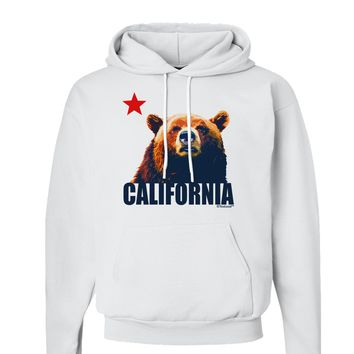 California Republic Design - Grizzly Bear and Star Hoodie Sweatshirt  by TooLoud