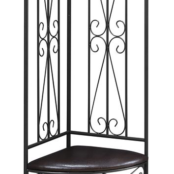 "Bench - 72""H / Copper Metal Corner Hall Entry"