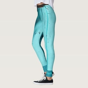Southwest Turquoise Door Leggings, with Name Leggings