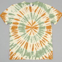 jungmaven - tie dyed hemp cotton blend t shirt tan green