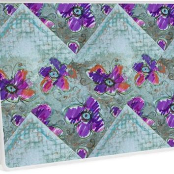 'Blue Eyed Clematis ' Laptop Skin by Linandara