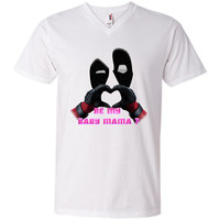 DeadPool FaceMask H Heart Be my Baby Mama T-Shirt