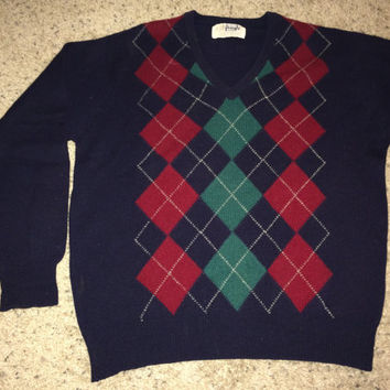 Sale!! Vintage PRINGLE Casual Wool Sweater Long sleeve fashion Pullovers Made in Scotland