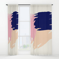 Pink Blush Window Curtains by spaceandlines