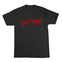 Slim Shady T-Shirt (Red on Black) - Official Eminem Online Store