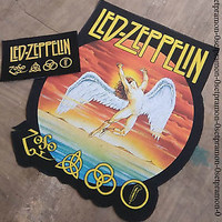 LED ZEPPELIN patch & Giant Back patch , nice for vintage jacket or flannel shirt