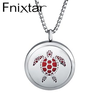 Fnixtar Newest Animal Cat Horse Deer 30mm Aromatherapy Essential Oil Diffuser Round Perfume Locket Aroma Pendant Necklace