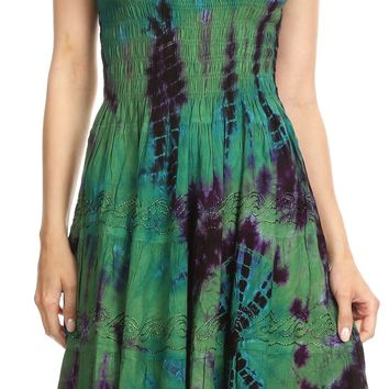 Women's Off The Shoulder Tie-Dye Midi Dress | Alba