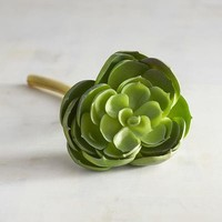 Faux Green Desert Rose Succulent Stem