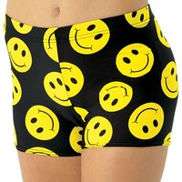Smiley Happy Face Print Booty Short | Balera™