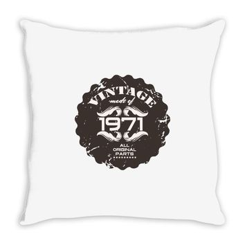 vintage made of 1971 all original parts Throw Pillow