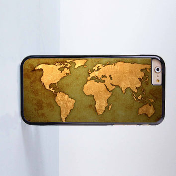 World Map Plastic Case Cover for Apple iPhone 6 6 Plus 4 4s 5 5s 5c