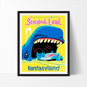 Storybook Land, Disneyland Poster
