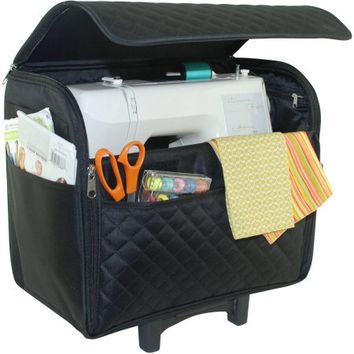 Everything Mary Black Quilted Rolling Tote - Walmart.com