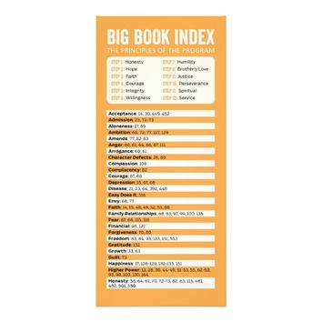 AA Big Book Index Bookmark