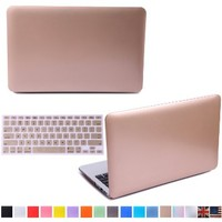 "HDE Matte Hard Shell Clip Snap-On Case for MacBook Pro 15"" with Retina Display - Fits Model A1398 (Gold)"