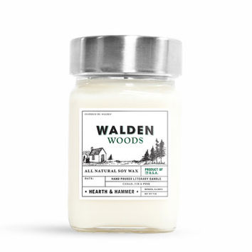 Walden Woods Literary Candle // Inspired by Walden