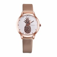 Fruit Simple Watches Women Clock 2017 Top Brand Luxury PU Leather Dress Women Watches Women Fashion Watch Discount Relogio