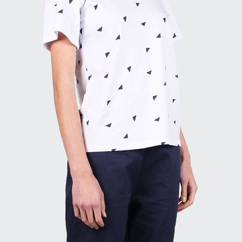 Jeena T-Shirt - white/navy