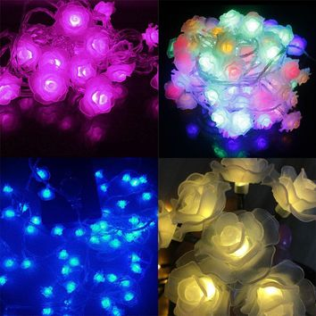 Lotus String Lights 2m 20 LED Flower Fairy Light