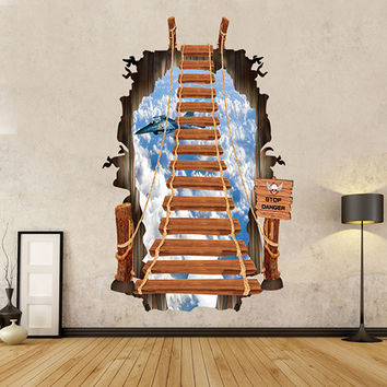Ladder Sky 3D Wall Decal