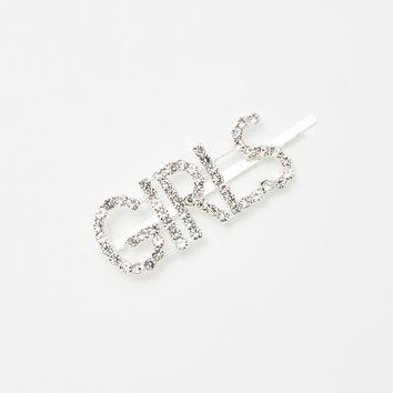 Girl Crazy Rhinestone Bobby Pin