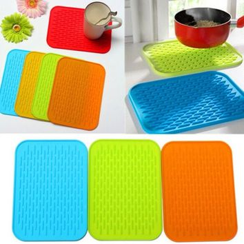 Silicone Kitchen Trivet Pot Pan Straightener Holder Mat Heat Non Slip Resistant