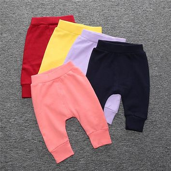 New Infant Baby Boys Girls Pants Cotton Casual Bbottom Long Pants Trousers Bloomers Kids Children Clothes Girl Leggings