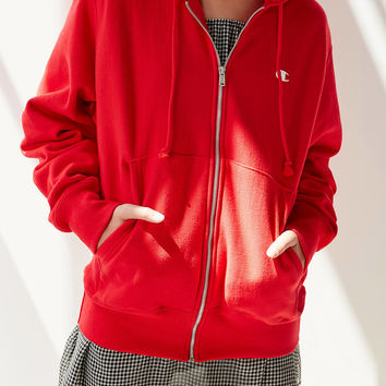Champion Zip-Up Hoodie Sweatshirt | Urban Outfitters