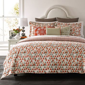 Happy Chic by Jonathan Adler Holly 3-pc. Reversible Comforter Set (Orange)