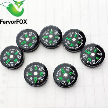 VONL8T 10PCS Mini Compass for Paracord Bracelet Outdoor Camping Hiking Travel Emergency Survival Tool
