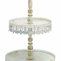 Benzara Two Tier Treat Tray As Antique Victorian Decorative