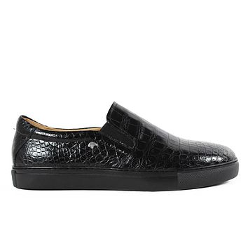 Classic Crocodile Skin Handmade Designer Alligator Fashion Genuine Leather Shoes Luxury Leisure Men's Casual Shoes