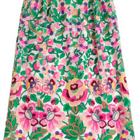 Valentino - Embroidered Cotton Skirt