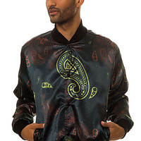 Civil The Paisley Bomber Jacket in Black