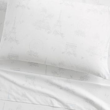 Monique Lhuillier Paris Toile Sateen Sheet Set