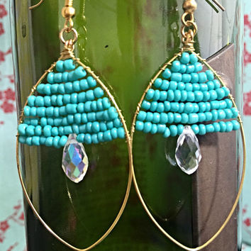 Beaded Chandier Earrings