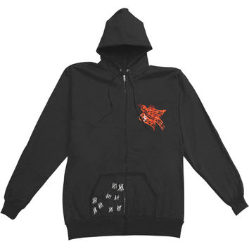 Rise Against Men's  Birdie Zippered Hooded Sweatshirt Black