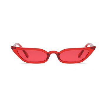 Womens Colorful 90's Small Cat Eye Sunglasses