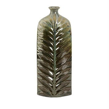 Cutwork Vase - Tropical Leaf Pattern